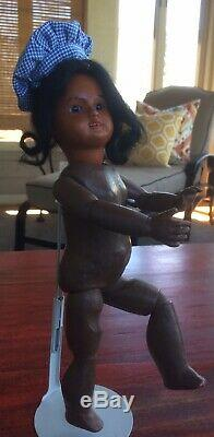 10 Fully Jointed Black French Bisque Bebe. Perfect Pal for Bleuette