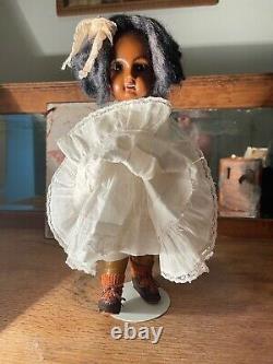 11 Black Mulatto Jumeau Doll size 2 Very Rare Bebe 1880