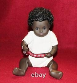 12 Vintage 509 Black Baby Sasha Doll, Tag No Box, mid 1970's, UK