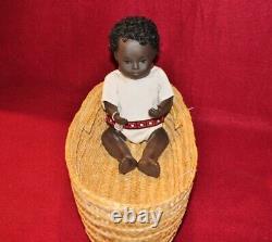 12 Vintage 509 Sexed Baby Girl Sasha Doll, Black, Tag, Box, Early 1970's, UK