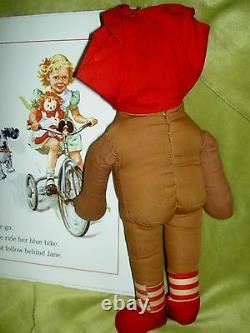 15 Georgene Beloved Belindy 40s Raggedy Ann black outlined nose cloth rag doll