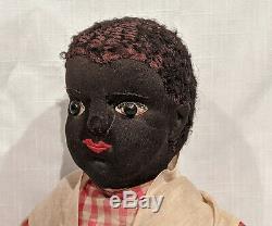 1892-1910 Julia Jones Beecher Cloth Doll, 19 1/2 inches tall