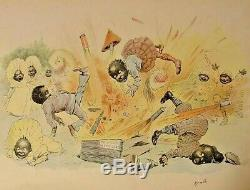 1897 AFRICAN AMERICAN BLACK BERRIES Americana History CHILDREN Civil War Slavery
