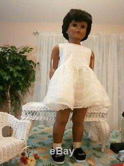 1959 Black RARE Walker Playpal Doll 35 African American AE 3651 Beautiful Doll
