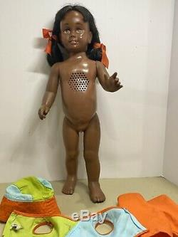 1960's MATTEL Black Afro American CHATTY CATHY Doll In Sunny Day Outfit Rare