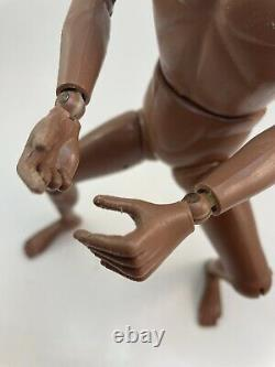 1964 GI JOE Vintage Black African American Fuzzy Hair 12 Nude Hasbro Fig USED