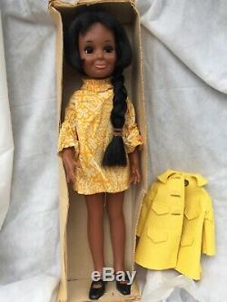 1969 Ideal Crissy Family Tressy Doll Black African American in Box PLEASE READ