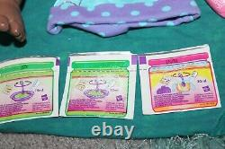 2006 Baby Alive Doll Soft Face African American Black Curls Hasbro 25 Pieces Lot