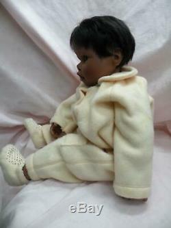 20 AA black Kinderland baby sculpted by Hildegard Gunzel / GOTZmade in Germany