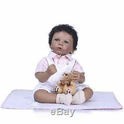 20 Biracial Baby Dolls Boy African American Reborn Baby Dolls Black Skin