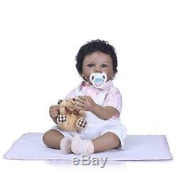20 Reborn Toddler Doll African American Black Reborn Baby Dolls Gifts for Boys