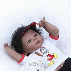 23 African American Reborn Baby Dolls Boy Full Body Silicone Biracial Black