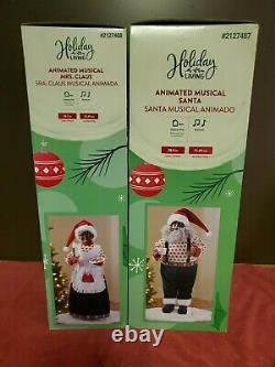 28 African American Animated Musical Santa Claus And Mrs Claus New in box