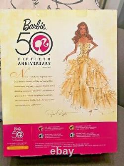 50th Anniversary Glamour Barbie Robert Best AFRICAN AMERICAN BLACK AA NRFB READ