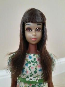 Adorable Vintage Black Aa Francie Nude Doll Needs Tlc Displays Well! Colored