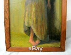 African American Artist Charles Bohannah Signed Painting of a Black Lady Art