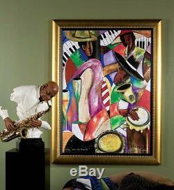 African American Black Art Giclee' JAZZ & FRIENDS by Kelvin Henderson