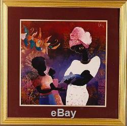 African American Black Art Print CHERISH by Lee White