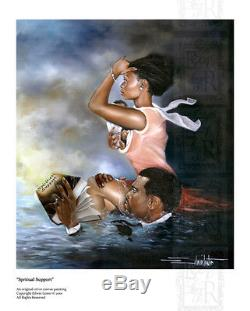 African American Black Art Print SPIRITUAL SUPPORT by Edwin Lester