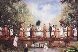 African American Black Art Print WADE IN THE WATER II by Ted Ellis