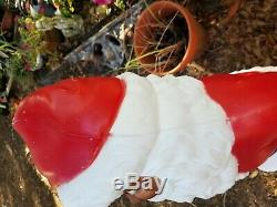African American Black Santa Light Up Vtg Blow Mold. Lawn Ornament. Approx. 38