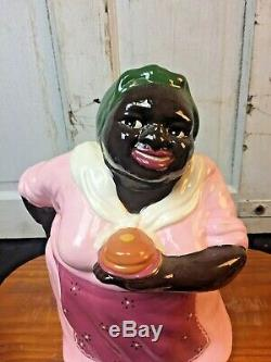 African American Carol Gifford Pancake Mammy Gold Black Americana Cookie Jar