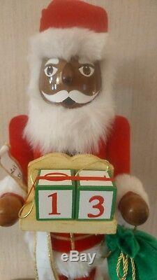 African American Christmas Nutcracker Ethnic Black Santa Peppermint HUGE 20