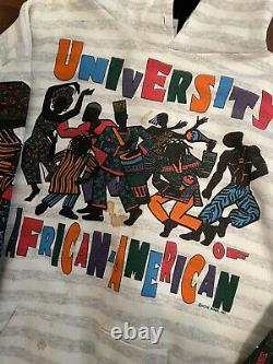 African American College Alliance Vintage 90's Shirt University Hoodie Black XL