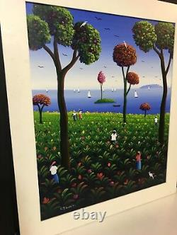 African American Colorful Painting Black Americana Signed Vtg Beautiful