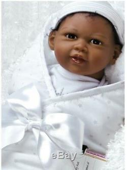 African American Doll Newborn Baby Boy Reborn Bundles Lifelike Soft Black Brown