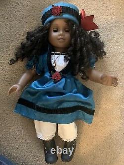 African American Girl Doll Cecile Curly Black Hair Hazel Green Eyes