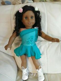 African American Girl Doll Cecile Curly Black Hair Hazel Green Eyes Historical
