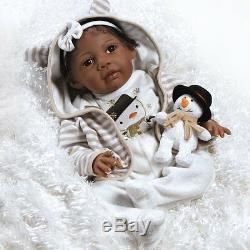 African American Realistic Girl Baby Doll Black Hair Reborn Infant Weighted New