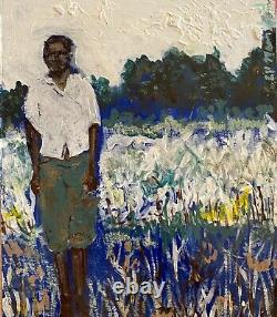 African American Young Male Painting Medium Portrait Landscape Black History