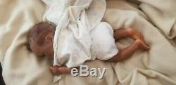 African American ethnic biracial reborn baby girl aa black