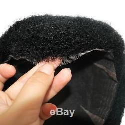 All lace curly toupee for black men black human hair unit for African American