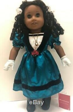 American Girl Cecile 18 Doll Retired w Hat, Gloves, Necklace, Book, Box