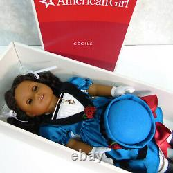 American Girl DOLL CECILE REY In MEET OUTFIT + Necklace Hat Gloves ACCESSORIES