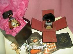 Antique 12 j'td. Black bisque doll c1891, Bahr & Proschild 277 DEP pierced ears