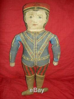 Antique 1892, Arnold Print Works rare black cloth, TOPSY or Pickaninny doll