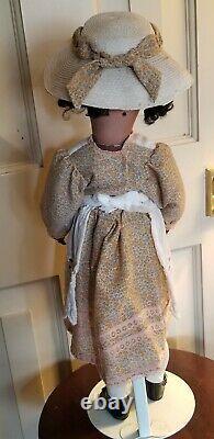 Antique 19 Black Mulatto Heinrich Handwerck Simon & Halbig #2 Bisque Compo Doll