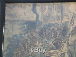 Antique Black Americana Painting Urban Regionalism Ny African American Wpa Era