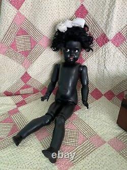 Antique Black Doll Simon Halbig/Kammer and Reinhardt RARE Precious Flirty Eyed