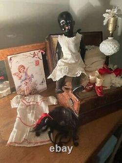 Antique Black HANDWERCK Doll Rare Mold 109Factory Original Clothing