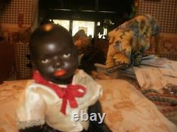 Antique Heubach Black Doll This is a rare find. The entire body is black. 1900's
