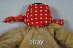 Antique R. F. Outcault Black & Yellow Kid Folk Art Americana Cloth Doll C&W 11
