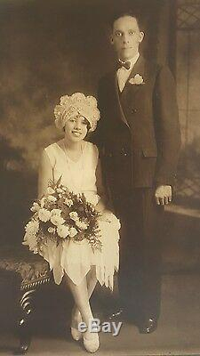 Antique Vintage African American Black Couple Wedding Photograph Artistic Photo