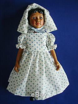 Artist Robert Raikes Dark Wood AA Black HITTY Type Doll Signed R 2002-on