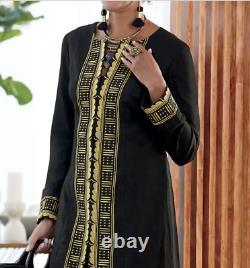 Ashro Black Gold Formal African American Pride Dress Jalia Pant Suit 18W 22W