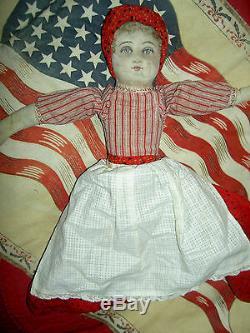 BRUCKNER, 1901 Antique cloth black Americana TOPSY-TURVY 2-sided doll 14 tall